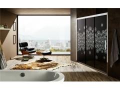 玫瑰岛淋浴房PPE三联动屏风,为你提供超宽开门空间