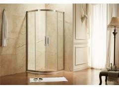 玫瑰岛PP2不锈钢扇形淋浴房 小户型卫生间干湿分离优选