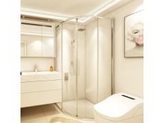 玫瑰岛FB极窄框扇形系列 | 让浴室生活充满人性温暖