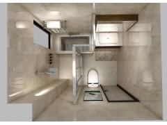 5.2㎡卫生间,同时放下淋浴房和浴缸,效果远超预期!