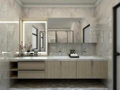 7㎡卫生间超强收纳设计,玫瑰岛这套组合浴室柜赢了